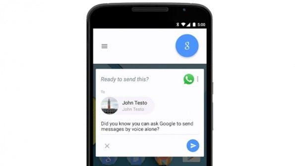 Unterstützung für WhatsApp, Telegram & Co.: Ab sofort könnt ihr dank Google Now Nachrichten per Sprachbefehl versenden. (Screenshot: Google)