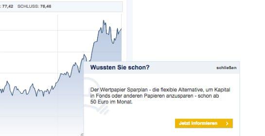 Pop-up auf maxblue.de (Screenshot: Marcel Licht)