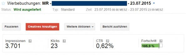Anhand von CPC und Klickrate ermittelt der DFP-AdServer den TKP. (Screenshot: MSO Digital)