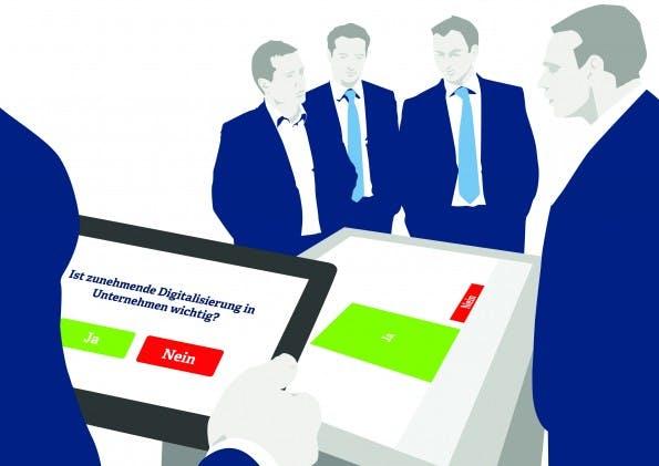 Mit einer vernetzten Präsentation werden Kunden im Gespräch interaktiv involviert.