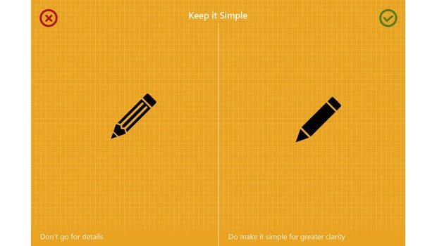 "8 Icon-Design-Regeln von M.A. Kather – ""Keep it simple"" steht über alles. (Grafik: Behance.net)"