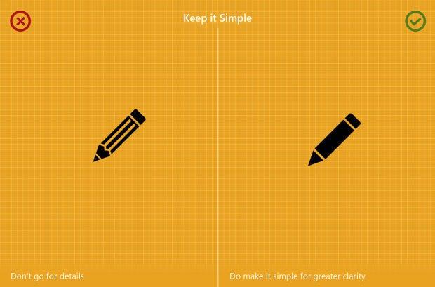 """8 Icon-Design-Regeln von M.A. Kather – """"Keep it simple"""" steht über alles. (Grafik: Behance.net)"""