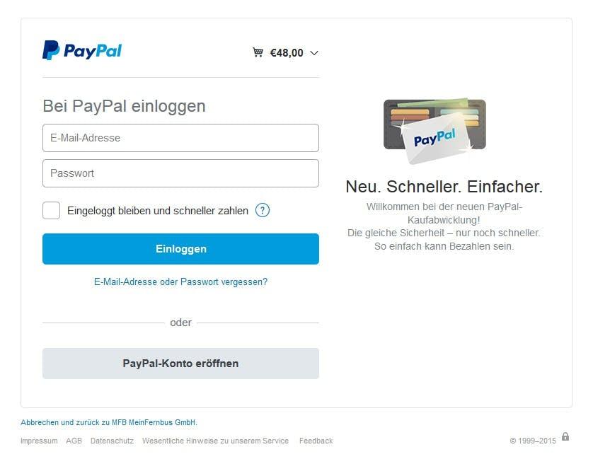 PayPal-One-Touch will mobiles Bezahlen erleichtern. (Screenshot: PayPal)