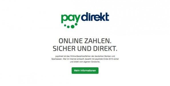 Paydirekt Online-Bezahldienst (Foto: Screenshot Paydirekt Webseite)
