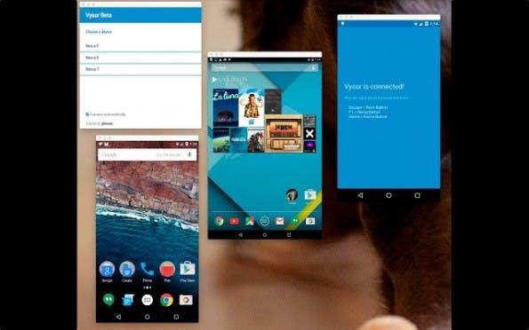 Vysor soll die Android-Welt auf den Desktop bringen. (Bild: Vysor)