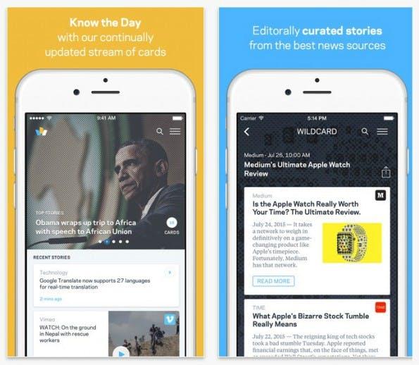Wildcard: News-App will Nachrichtenverhalten seiner Nutzer verändern. (Screenshot: Wildcard/Apple)