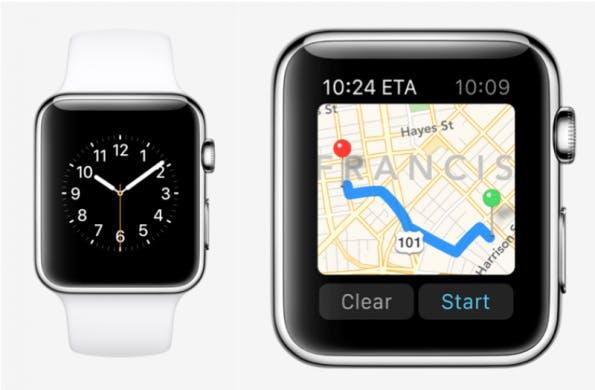 Navigieren auf einer Smartwatch wie die Apple Watch ist vor allem für Fußgänger eine enorme Erleichterung (Foto: Apple)