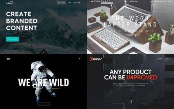 Kaum Variationen in Websites aus Templates (Collage: Adobe Dreamweaver Team Blog)