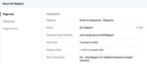 Facebook-Seiten: Namensänderung jetzt kinderleicht. (Screenshot: Facebook)