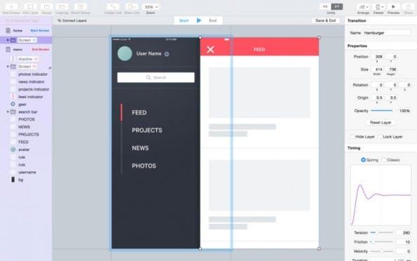 Flinto for Mac: Mit dem Tool erstellt ihr auf einfache Art und Weise interaktive Prototypen. (Screenshot: Flinto)