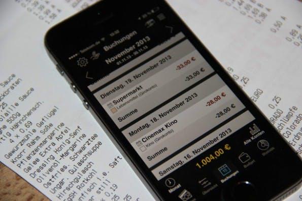 Belegerfassung gehört zu den Grundfunktionen jedes Haushaltsbuchs. (Screenshot: Onetwoapps)