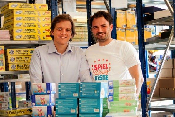 Florian Spathelf und Florian Metz von Meine Spielzeugkiste. (Foto: Meine  Spielzeugkiste)