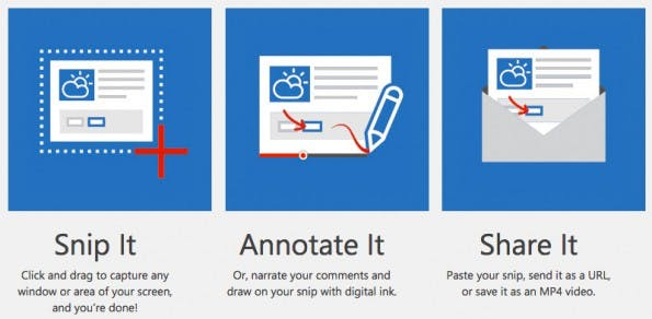 Snip ist ein interessantes Screenshot-Tool von Microsoft. (Screenshot: office.com)