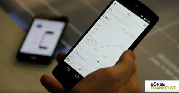 Die App der Frankfurter Börse bietet Informationen zu am Standort gehandelten Wertpapieren. (Screenshot: Frankfurter Börse)