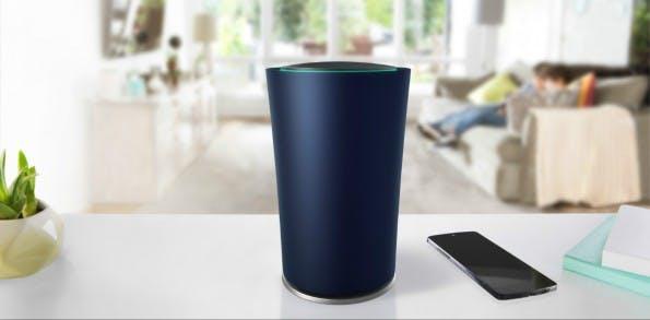 OnHub: Googles neuer Router soll einen zentralen Platz im Haus bekommen. (Foto: Google)