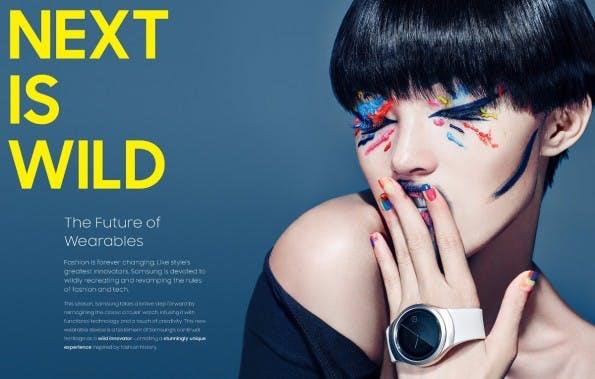 Samsung Gear S2: Die Smartwatch verfügt über ein rundes Display. (Grafik: Samsung)