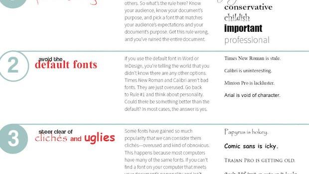 Typografie für Dummköpfe: 18 Regeln für den Einsatz von Texten. (Grafik: The Visual Communication Guy)