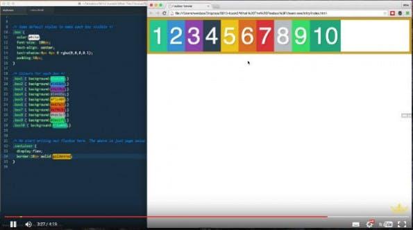 """""""What the Flexbox"""" ist durchgängig nachvollziehbar und sinnvoll strukturiert (Screenshot: flexbox.io)"""