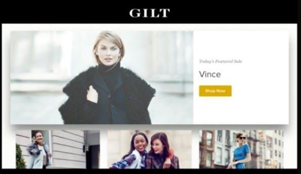 Apps wie Gilt zeigen, dass Apple TV im E-Commerce schon bald eine wichtige Rolle spielen könnte. (Screenshot: Apple)