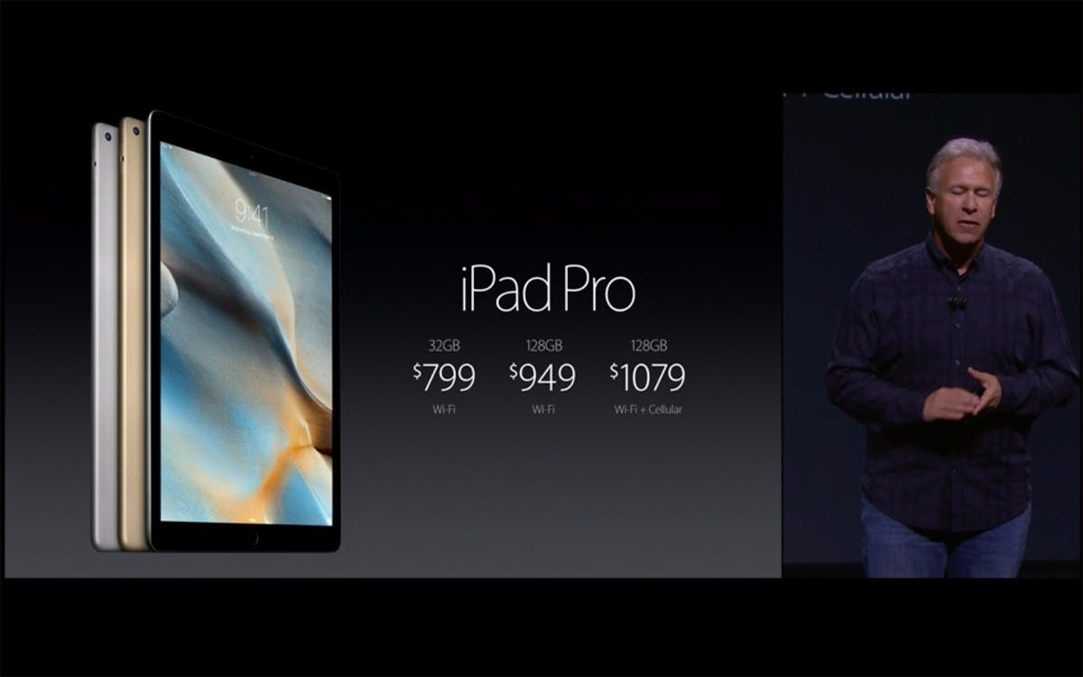 Das iPad Pro gibt es ab November und ab 800 Dollar. (Quelle: Apple)