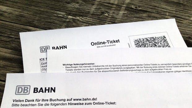 Das Online-Ticket der Deutschen Bahn, oder: Wie man fast 4 Millionen Blatt Papiermüll pro Monat vermeiden könnte