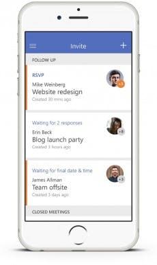 Die Übersicht aller Termine in der App. (Grafik: Microsoft)
