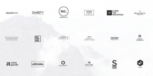 Kostenlose Minimal-Logo-Templates von Mats-Peter Forss. (Grafik: Behance.net)