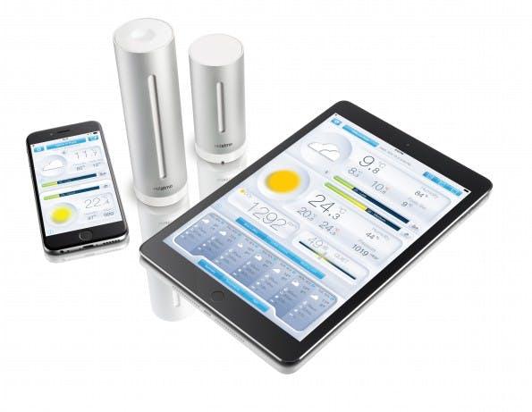 Die Funkwetterstation von Netatmto wertet Luftdaten in Echtzeit aus und präsentiert sie anschaulich in einer speziellen App. (Foto: Netatmo)