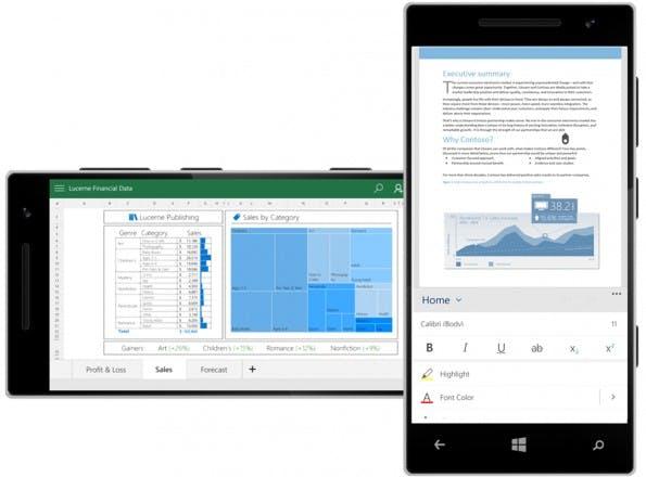 Office 2016 verspricht schicke und einfach zu synchronisierende mobile Anwendungen. (Grafik: Microsoft)