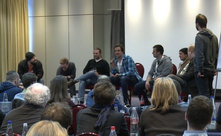 Speaker-Panel auf den JavaScript Days 2015 Spring