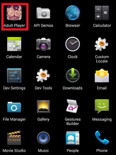Ransomeware: Diese vermeintliche Porno-App erpresst ihre Nutzer. (Screenshot: Zscaler)