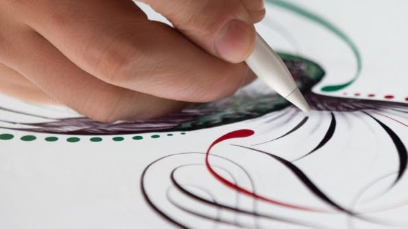 Apples Pencil im Praxiseiinsatz. (Quelle: Apple)
