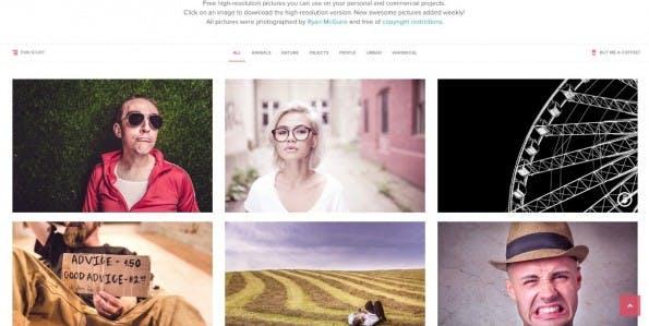 Wirklich schicke Stock-Fotos gibt es bei Gratisography – und zwar komplett kostenlos. (Screenshot: Gratisography)