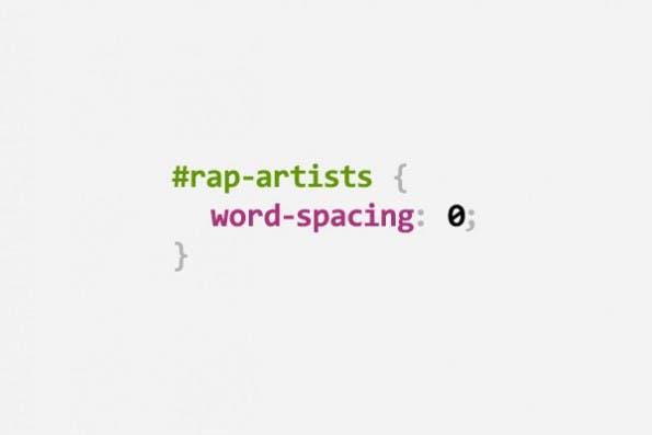 CSS Puns: Rapper (Bild: Digital Synopsis)