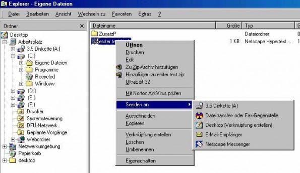 Früher™ wurden Dateien noch auf Disketten gespeichert. (Screenshot: chrispa.de)
