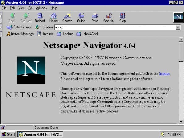 Netscape war einer der ersten Browser. Entwickelt übrigens von dem heutigen Valley-Investor Marc Andreessen.