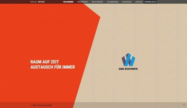 Eckwerk zeigt, dass man mit skrollr richtig schicke und dynamische Designs bauen kann. (Screenshot: Eckwerk)