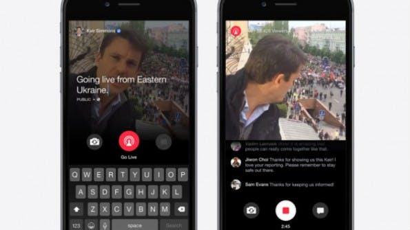 Die Live-Funktion schaltet Facebook für alle verifizierten Profile frei. (Bild: Facebook)