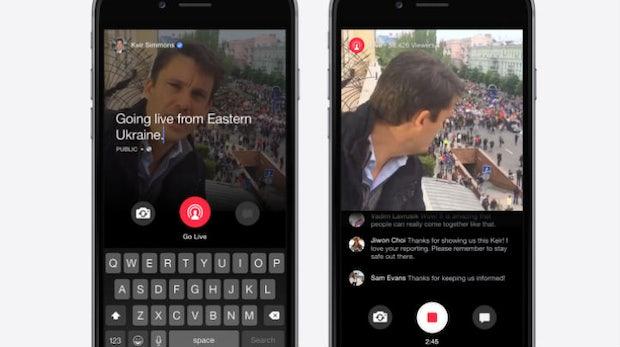 Facebook erhöht Druck auf Periscope und weitet Live-Streaming-Funktion aus