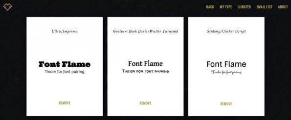 Geliebt Schriftarten - doch welche ist jetzt die beste? (Screenshot: Frontflame.com)