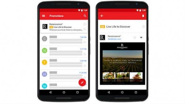 Die neuen Gmail-Ads können wie ein Newsletter gestaltet werden. (Bild: Google)