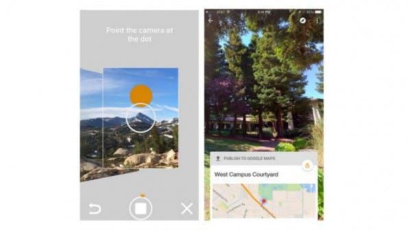 Wer keine teure Spezialkamera besitzt, kann Fotos direkt in der Street View-App schießen. (Bild: Google)