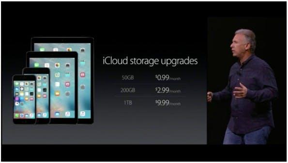 Apple verkündet neue iCloud-Preise. (Screenshot: Apple.com/t3n)