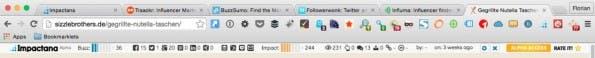 Nützlich: die Impactana-Toolbar zur Identifizierung von Influencern. (Screenshot: Florian Rieß)