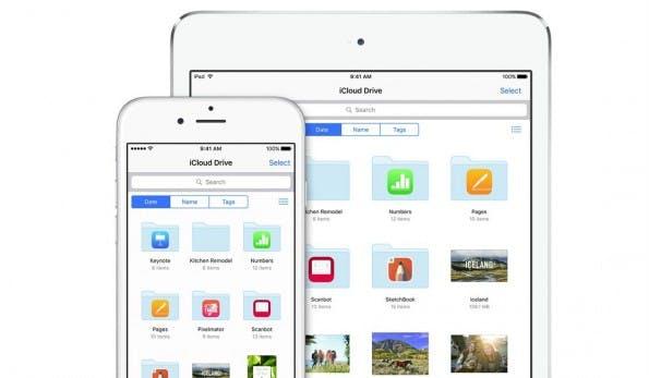 iCloud Drive lässt sich unter iOS 9 jetzt auch direkt auf eurem Homescreen als Icon platzieren. (Screenshot: Apple)