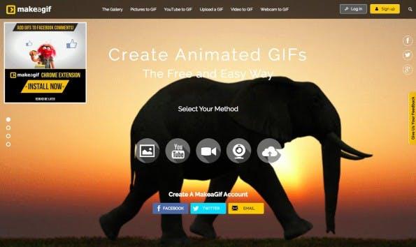 makeagif: Hier könnt ihr alle möglichen Quellen zu einer GIF-Animation werden lassen. (Screenshot: makeagif)