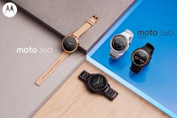 Die neue Motorola Moto 360 kommt in drei unterschiedlichen Versionen. (Foto: Motorola)