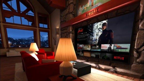 """""""Netflix Living Room"""": So sieht die Benutzeroberfläche in der virtuellen Welt aus. (Bild: Netflix)"""