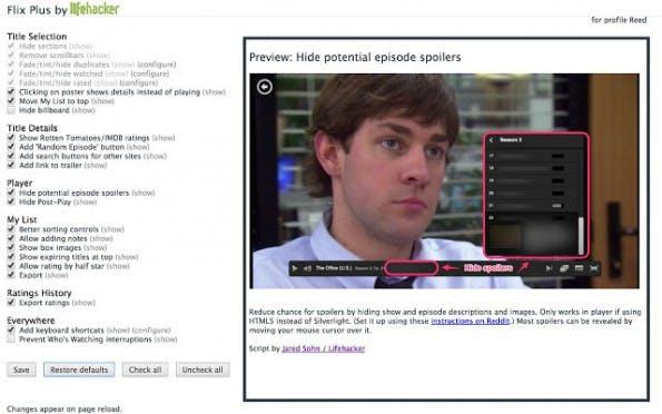 Das Chrome-Plugin Flix Plus bremst Spoiler aus. (Screenshot: t3n)