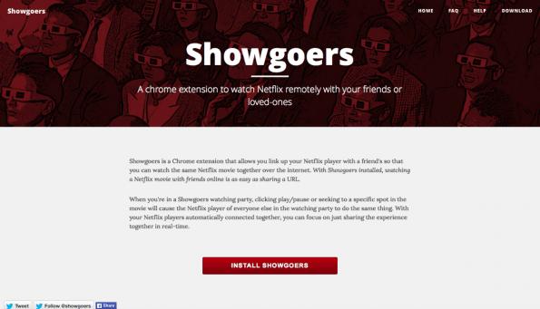 Mit dem Showgoers kann man auch in Fernbeziehungen gemeinsame Filmabende veranstalten. (Screenshot: t3n)